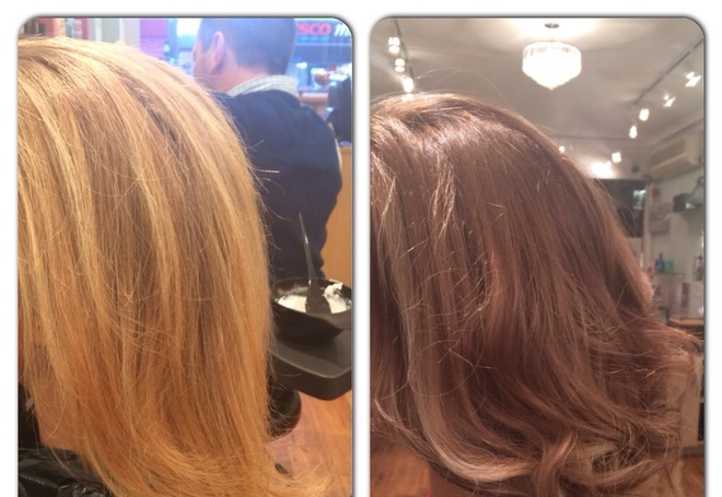 Before and after colour change