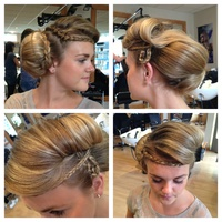 creative hair up. Allegra inspired