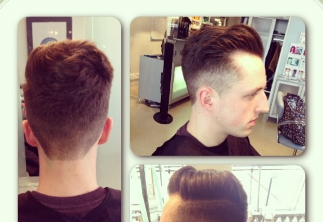 Clean Fade With Side Parting Quiff