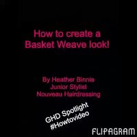 How to create a basket weave!