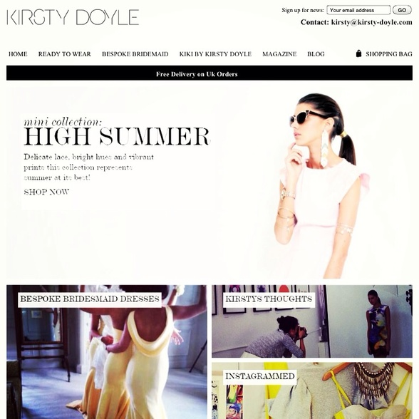 My work on Kirsty doyles website