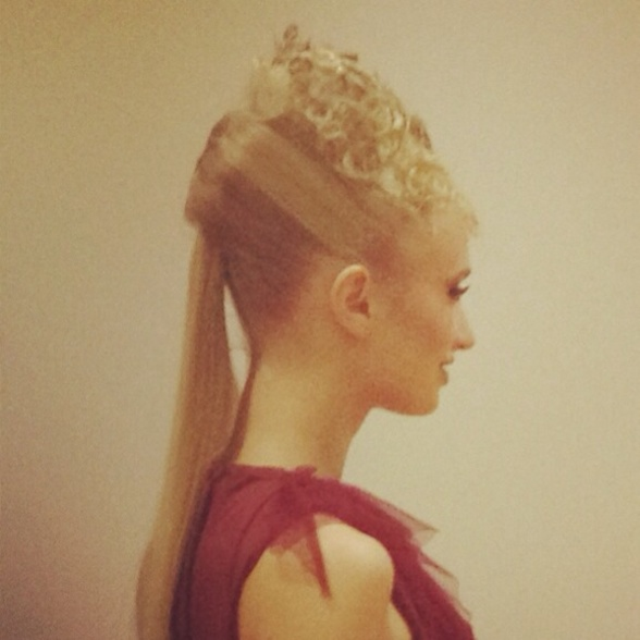 My fame team finals hair up