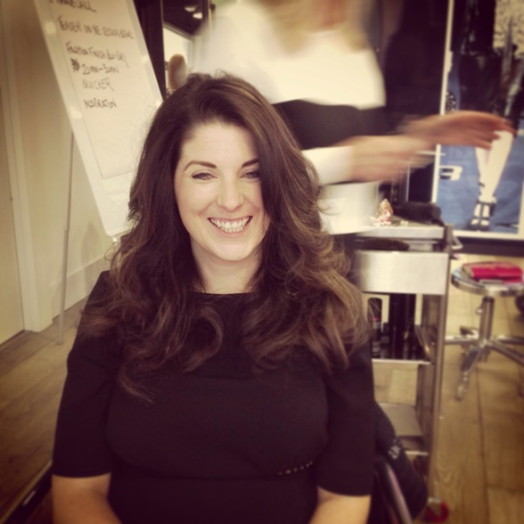 DVF blow dry at education team training
