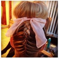 Upside down plait bun