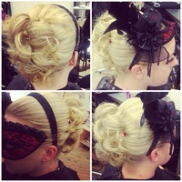Masquerade Ball inspired hair up