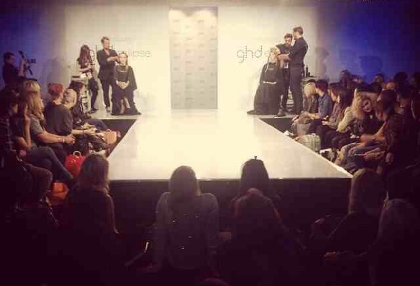 On stage at Salon International