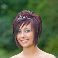Beautiful prom cut and style
