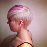 Asymmetric cut and colour by yours truly