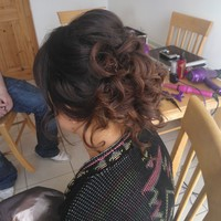 Pretty pinned curls