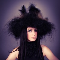 Hat/wig made from hair.