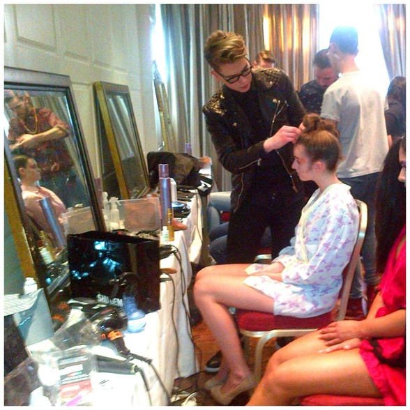 Working backstage at LFW