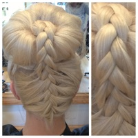 Braided top knot!