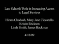 Watch video: Law Schools\' Role in Increasing Access to Legal Services