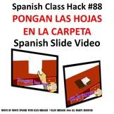 Use CI for 90% TL Spanish Class-Pongan las Hojas en la Car