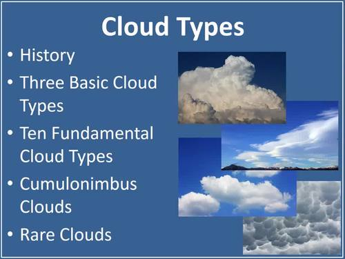 Cloud Types MS Lesson - A Middle School Introduction