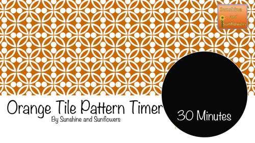 Orange Tile Pattern Timer