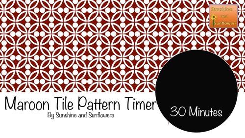 Maroon Tile Pattern Timer