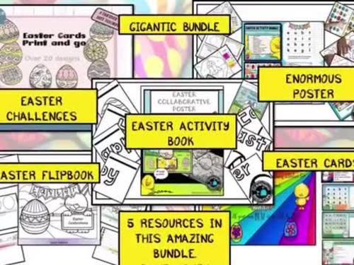 GIGANTIC Easter bundle of activities