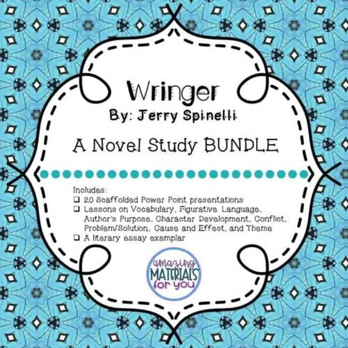 Building a Community of Readers with Wringer by Jerry Spinelli - BUNDLE