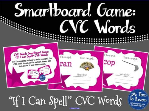 "CVC Words: ""If I Can Spell"" Spelling Patterns Game (Smartboard/Promethean Board)"