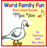 Word Families: Short Vowels Phonics Music Video