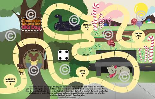 Chocolate Mouse's Bad Big Day Board Game