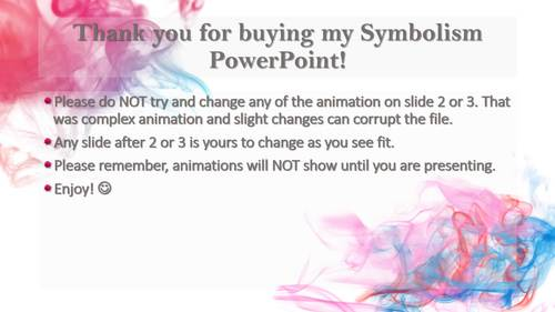 Introduction to Symbolism Interactive Animated Powerpoint