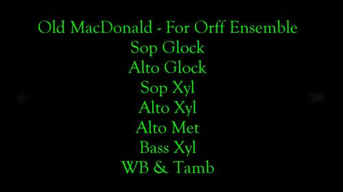 Old MacDonald For Orff Ensemble