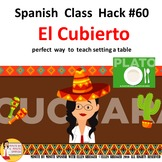 Spanish Class El Cubierto song of the week. Teach how to s