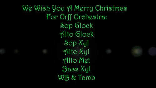 We Wish You A Merry Christmas - For Orff Orchestra