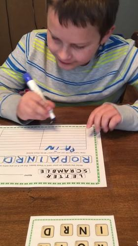 Literacy Centers or Early Finisher Letter Scramble March Edition