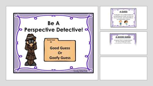 PERSPECTIVE TAKING  and SOCIAL SKILLS ACTIVITIES  Perspective Detective! Pack 2
