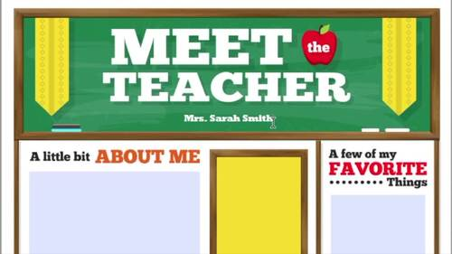 meet the teacher template newsletter flyer brochure color bw