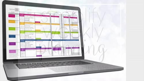 Teacher Planner Templates EDITABLE - Teacher Binder - Excel & Google Sheets