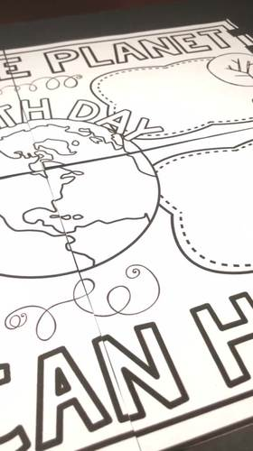 Earth Day Partner Poster: A 4-Panel Earth Day Collaboration Poster