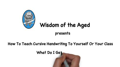 How To Teach Cursive Handwriting To Yourself Or Your Class Section 6