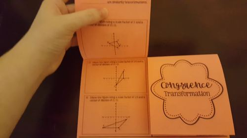 Similarity and Congruence Transformations Two Door Foldable (Editable Included)
