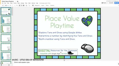 Place Value Digital Activities, Google Classroom, Tens and Ones, 2 Digit Numbers