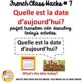 "7 French Class Transition Video ""Today's Date "" for CI TCI"