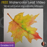 Watercolor Fall Leaf Video Demonstration