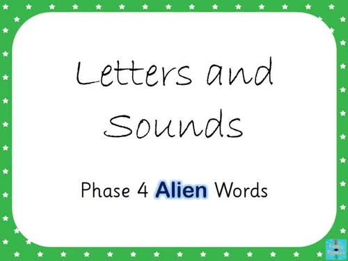 Phase 4 - Alien Words