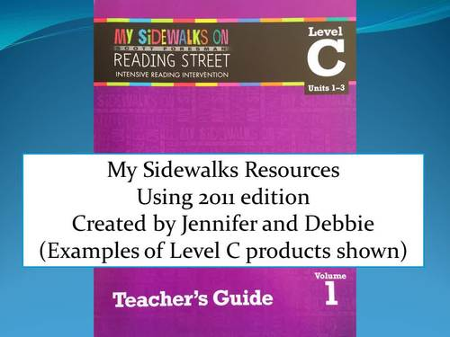 Complete Set My Sidewalks resources Levels A, B, C, D and E
