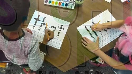 Sight Word Centers with Q-Tips and Paint {52 Words!}