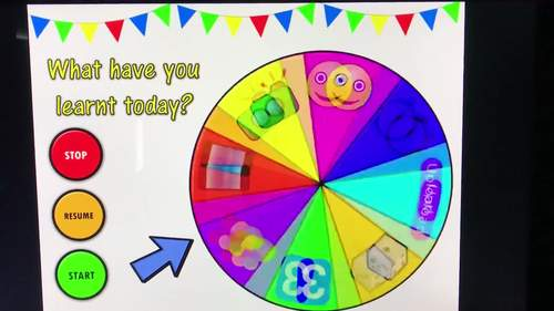 Lesson Review Wheel VERSION 2! Even more FUN activities to review learning!!