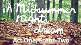 Line by Line: A Midsummer Night's Dream (1.2)