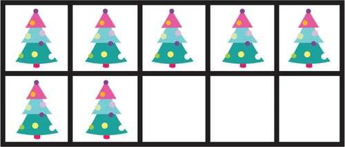 Christmas Tree 10 Frames Math Clip Arts-Set 8 [TeKa Kinderland]