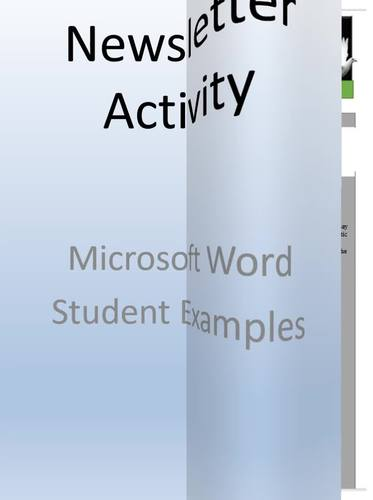 Holiday Newsletter Lesson Activity for Teaching Microsoft Word Skills