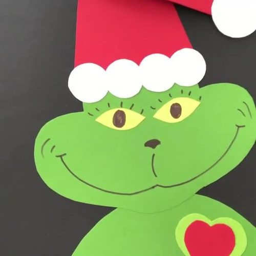 Grinch's Heart Craft - Christmas Craftivity