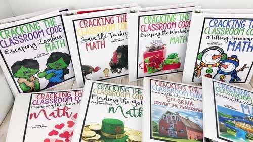 Escape Room 3rd Grade Math Seasonal Bundle Cracking the Classroom Code™