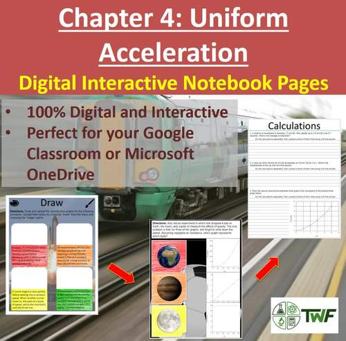 Uniform Acceleration - Digital Interactive Notebook Pages